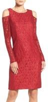 Alex Evenings Women's Glitter Lace Dress