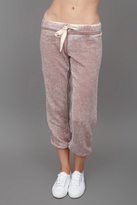 T2 Love T2Love Cropped Sweatpants Brown