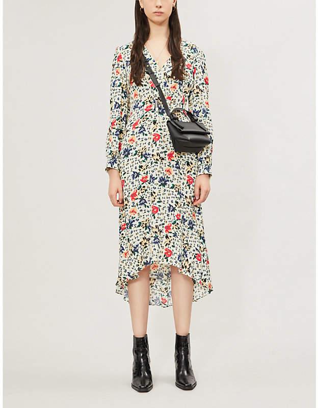 BA&SH Paloma Floral-Print Crepe Dress