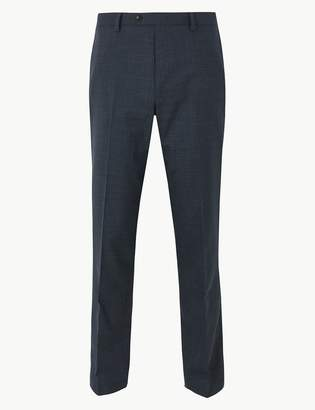 M&S CollectionMarks and Spencer Slim Fit Flat Front Trousers with Wool