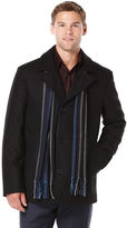 Perry Ellis Wool Melton Scarf Coat