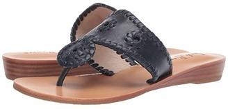 Jack Rogers Jacks Demi Wedge (Platinum/Platinum) Women's Shoes