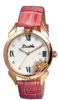 Queen Mother of Pearl Dial Light Pink Leather Ladies Watch