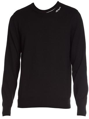 Alexander McQueen Logo Crewneck Wool-Blend Sweater