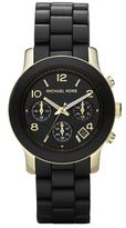 Michael Kors Runway Goldtone Stainless Steel & Rubber Bracelet Watch