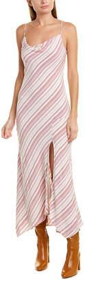 Lavender Brown Asymmetric Shift Dress