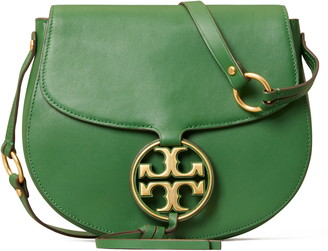 Tory Burch Miller Metal Logo Leather Crossbody Bag