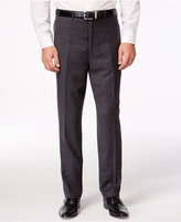 Shaquille O'Neal Collection Big and Tall Charcoal Plaid Pants, Only at Macy's