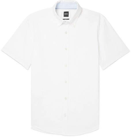 992b2ebd Hugo Boss Mens Linen Shirts - ShopStyle