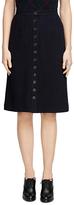 Brooks Brothers Cotton Blend Straight Skirt