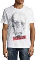 True Religion Punk Tour Skull Logo T-Shirt, White