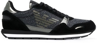Emporio Armani glitter embellished sneakers
