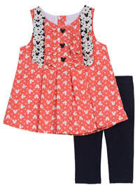Pippa Disney X & Julie Minnie Mouse Ruffle Top and Legging Set, Size 0-24 Months