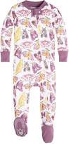 Burt's Bees Baby Desert Flutterbug Organic Zip Front Footed Pajamas