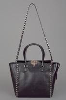 Rockstud Double Handle Bag Black