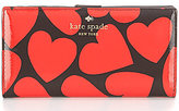 Kate Spade Be Mine Collection Stacy Heart-Print Continental Wallet