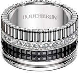 Boucheron Large Quatre Black Edition Diamond Band, Size 53
