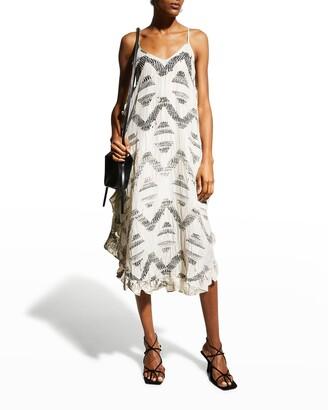 Joie Hayworth Spaghetti-Strap Silk Dress