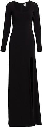 Cinq à Sept Gwen Scoopback Jersey Gown