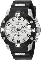 Invicta Men's 'Pro Diver' Quartz Stainless Steel and Silicone Casual Watch, Color:Two Tone (Model: 22698)