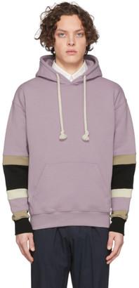 J.W.Anderson Pink Colorblock Sleeves Logo Hoodie