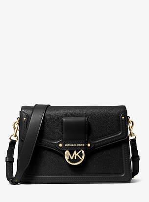 MICHAEL Michael Kors Jessie Large Pebbled Leather Shoulder Bag