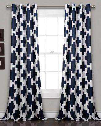 Triangle Home Fashion Wellow Ikat Room Darkening Window Curtain Panels