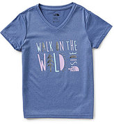 The North Face Little/Big Girls 5-18 Reaxion V-Neck Short-Sleeve Graphic Tee