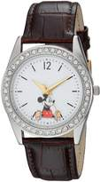 Disney Women's 'Mickey Mouse' Quartz Metal Casual Watch, Color: (Model: WDS000379)