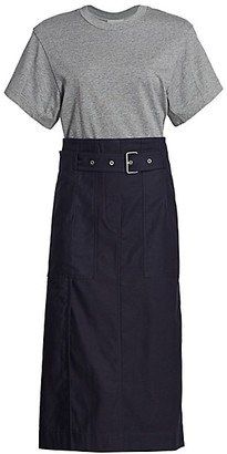 3.1 Phillip Lim Belted Cargo Midi Dress