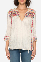 Johnny Was Embroidered Boho Blouse Top