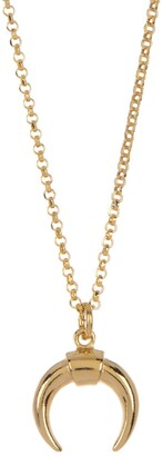 ADORNIA 14K Gold Plated Sterling Silver Horn Necklace