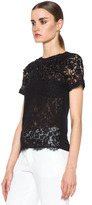 Valentino Short Sleeve Lave Tee in Black
