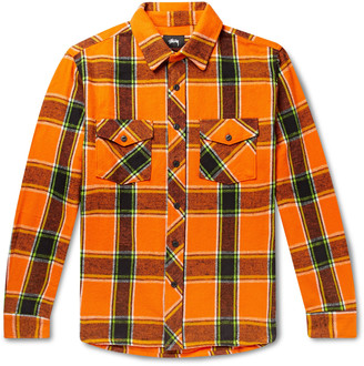 Stussy Ace Checked Cotton-Flannel Shirt