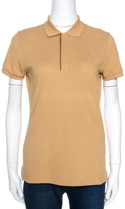 Ralph Lauren Brown Cotton Pique Skinny Polo T-Shirt M