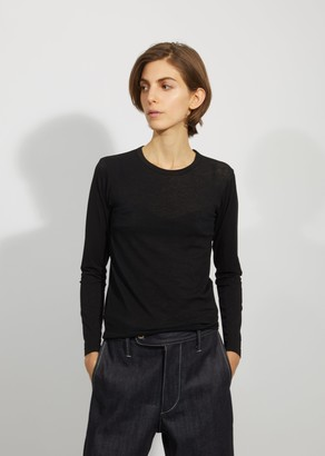 Junya Watanabe Cotton Spandex Bare Jersey Long Sleeve Top