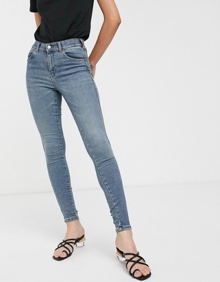 Dr. Denim high rise skinny jean in authentic wash-Blue