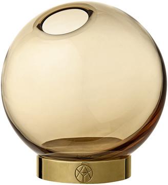 AYTM Globe Vase - Amber & Gold - Small
