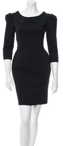 Lanvin Bateau Neck Mini Dress w/ Tags