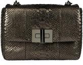 Tom Ford Natalia Large Cosmo Python Shoulder Bag, Dark Gray