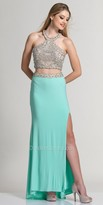 Dave and Johnny Bejeweled Two Piece Prom Dress