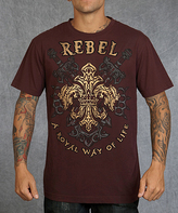 Rebel Spirit Burgundy & Gold 'Rebel Spirit' Fleur-de-Lis Tee - Men's Regular