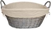 Houseology Antique Wash Finish Lined Wash Basket