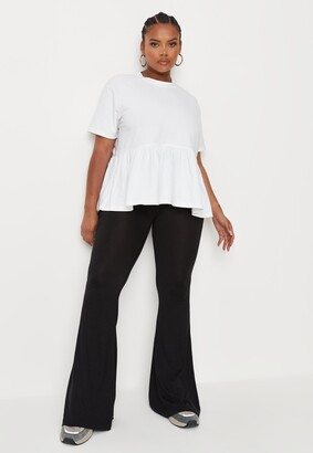 Missguided Plus Size Black Jersey Kick Trousers