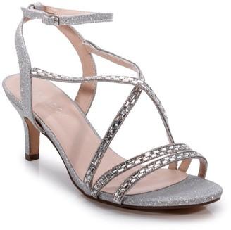 Linzi Paradox London Glitter 'Hermina' Wide Fit Mid Heel Sandal