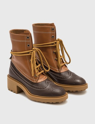Chloé Franne Bicolor Ankle Boot