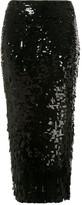Rachel Gilbert Max side slit sequin-embellished skirt
