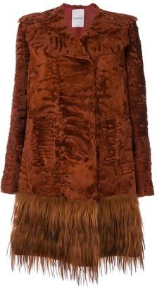 Valentino Embossed Fur Coat