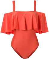 Adriana Degreas - ruffled swimsuit - women - Polyamide/Spandex/Elastane - P