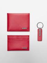 Calvin Klein Pebble Leather Wallet + Keychain 3 Piece Set